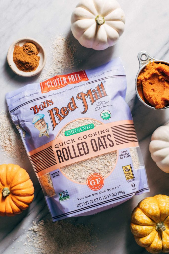 a bag of quick rolled oats