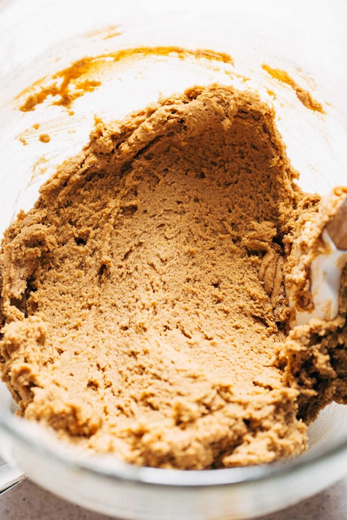 a bowl of spice cookie dough